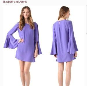 Elizabeth and James Mabel Purple Mini Dress